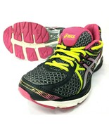 Asics Gel Flux 3 Womens Size 7 Running Shoes Black Pink High Viz Mesh Sh... - $33.73