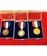 Vtg Rare 60's AAU Age Group Silver Gold Bronze Swimming Medal w/ Ribbon NIB - $50.00
