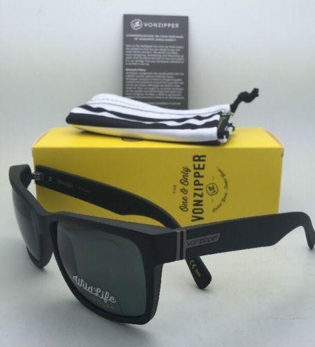 29cda705ff Polarized VONZIPPER Sunglasses VZ ELMORE Black Satin Frame w  WildLife Grey  Lens