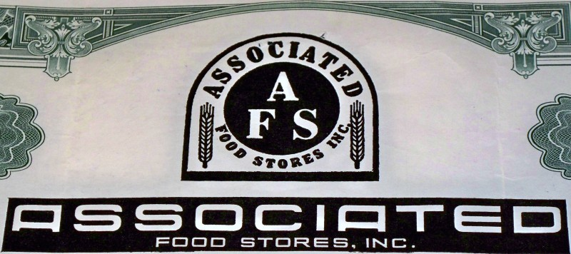Associated food stores stock certificate 002