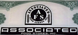 SUCCESS! Associated Food Stores Stock, 1950's - $2.59