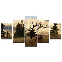 DEER WILDLIFE ART PRINT  5 Piece Canvas Art Wall Art Picture Home Decor - $22.80+