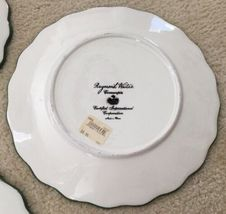 3 Raymond Waites Cornucopia Certified Intl Green Rim Fruit Dinner Dish Plates image 9