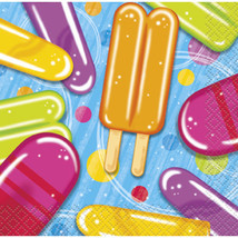 Popsicle Party 16 Beverage Napkins Summer Pool Beach Party - $2.99