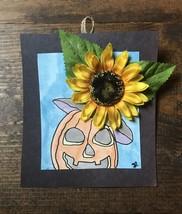 Halloween Mixed Media Drawing-Pen & Ink-Silk Flowers-Portrait-Art-Sketch... - $12.00