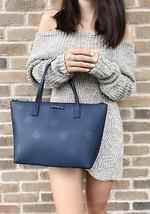 Kate Spade Haven Lane Hani Small Tote Navy Blue Glitter Polka Dots Handbag - ₨5,779.17 INR