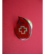 Canada Red Cross Blood Donor 20 Times Souvenir Lapel Hat Pin - $5.99