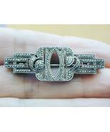 Super Fine Art Deco Silver & Pave Marcasite Pin - $39.99