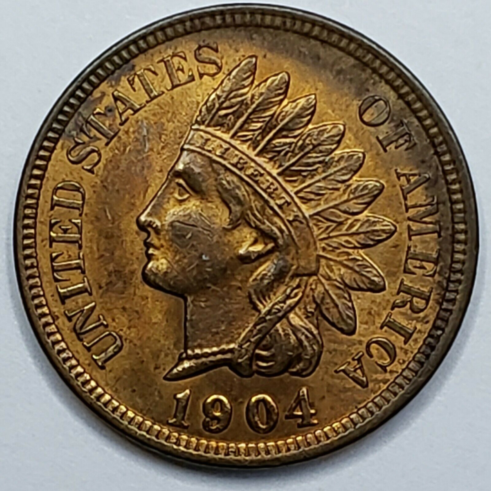 1904 Indian Head Cent Penny Coin Lot 519-96