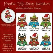 Hooties Ugly Christmas Sweaters cross stitch chart Pinoy Stitch - $10.80