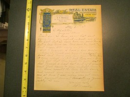 Pierson Iowa Real Estate FF Nicolls 1915 IA Letterhead 866 - $10.99