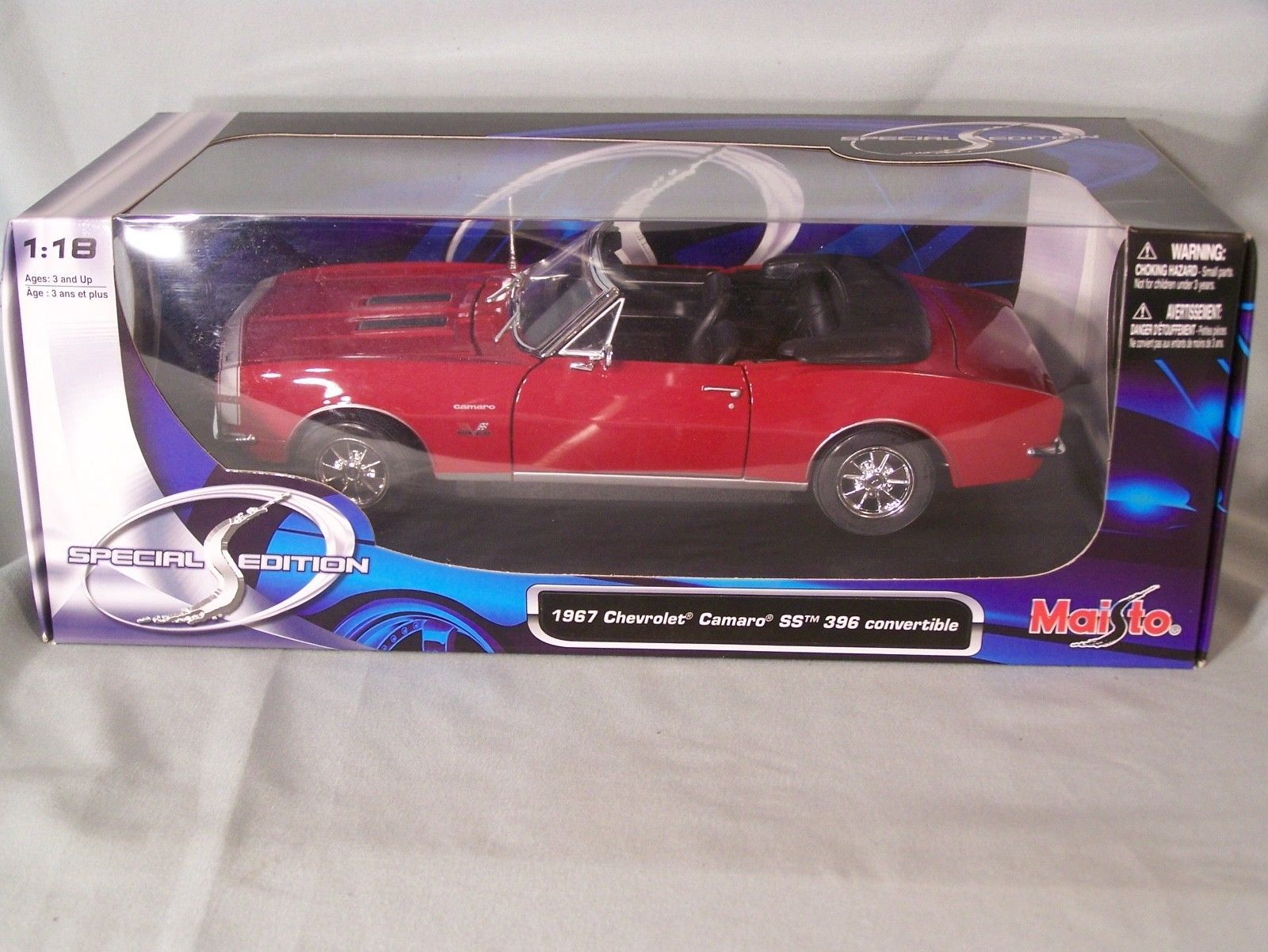 New Maisto 1967 Camaro RS//SS 396 Special Edition Diecast 1//18