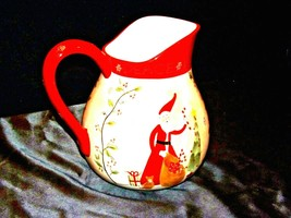 Santa Pitcher AA19-1466 Vintage - $59.95