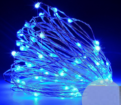 Winter Lane 3-pack 12' Micro LED Light Strings with Tealights, Blue - $19.79