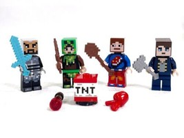 LEGO MINECRAFT 853609 People Pack w/ TNT brick, 4 Minifigs, and Accessor... - $19.59