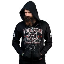 Wornstar Muerte Mecánico Punk Rock Músico Street Wear Sudadera con Crema... - $71.40