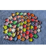 Set of 300 Mix Assorted Round Flat Back Glass G... - $22.00