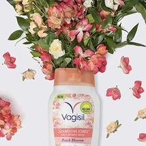 Vagisil Scentsitive Scents Plus Daily Feminine Intimate Vaginal Wash, Peach Blos image 4