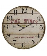 Antique Looking Fine Wines Wine Tasting Clock - $109.78