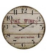 Antique Looking Fine Wines Wine Tasting Clock - $198.84