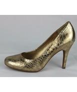 Jessica Simpson Oscar women's shoes heels classic gold metallic size 7B - $22.78