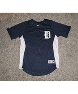 Detroit Tigers Jersey by Majestic, Youth Large, Navy Blue - $14.01