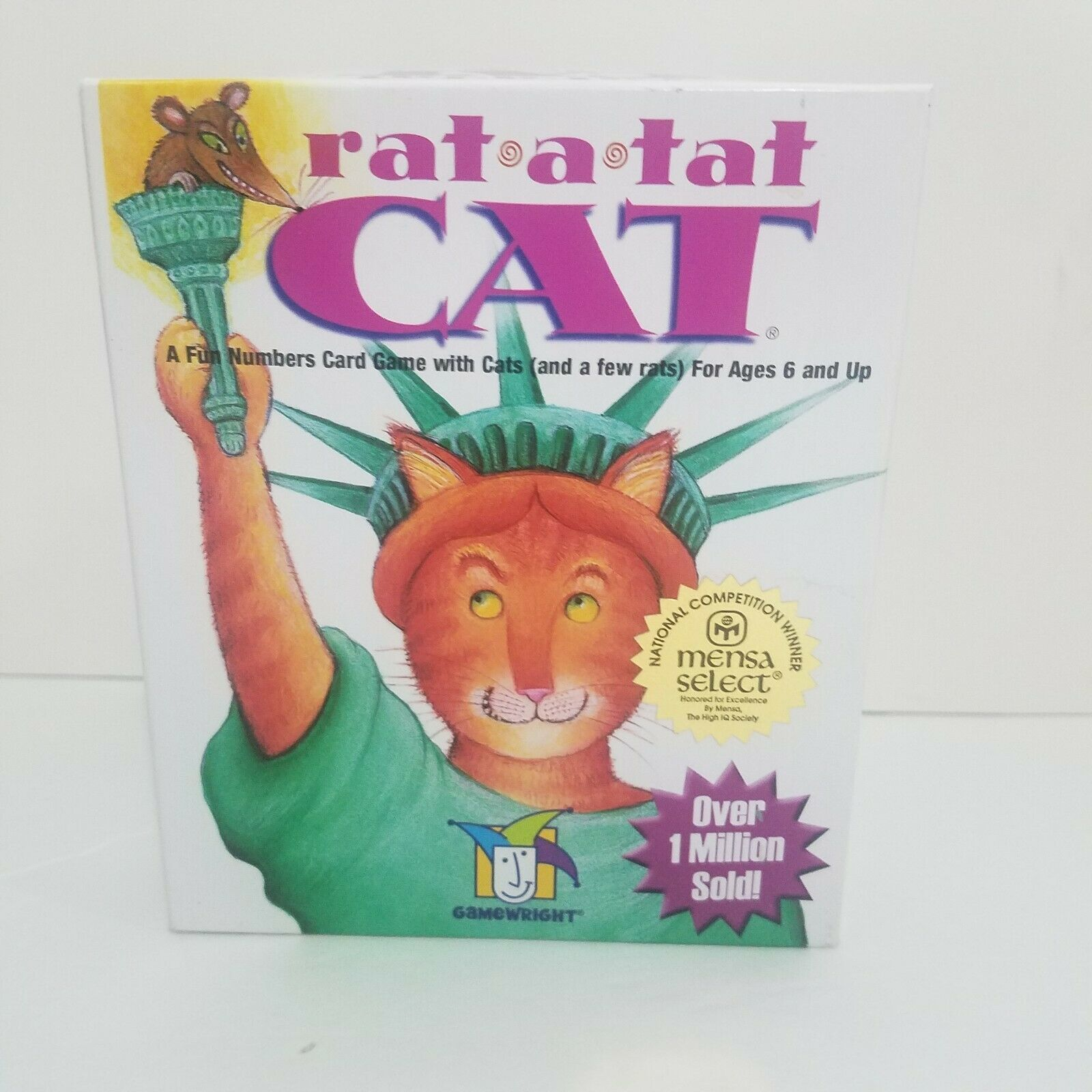 Primary image for Rat a Tat Cat Numbers Card Game Gamewright Ages 6+ USA Complete