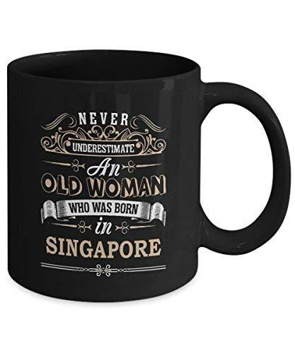 Primary image for SINGAPORE Coffee Mug - Old Woman Who was born in SINGAPORE Ceramic Mugs - Enjoya