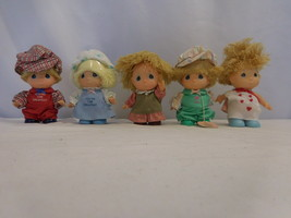 Precious Moments HI Babies set of 5 Dolls in Outfits 1980's Vintage + Tags - $62.38