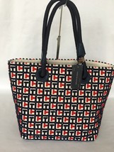 Tommy Hilfiger Terry  Signature Tote Red Navy - $49.99