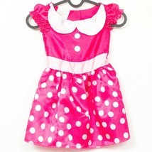 Disney Minnie Mouse Costume Dress Up 4 6X Pink Polka Dot Just Play Hallo... - $15.73