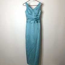 David's Bridal Long Straight Formal Dress 4 Back Slit Pleated Bodice Ruc... - $59.40