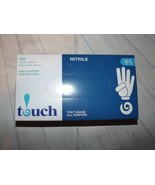 Touch Nitrile Gloves Size Large Powder Free 100 Count  - $12.57