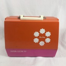 Vintage Electric JCPenney Sewing Machine With Carrying Case Pink - $35.38