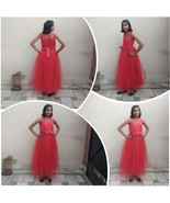 Full Length Ball Gown for Girls in Red Color - $63.99+