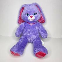Build A Bear Purple Pink Bunny Princess Plush BAB Sparkly Stuffed Animal... - $19.79