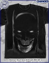 Batman Calavera Cara Aerógrafo Esqueleto Punk Gotham City DC Comics Hombre Shirt - $20.94