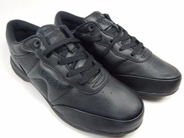 Propet Washable Walker Women's Leather Walking Shoes Size 8 D (W) WIDE Black