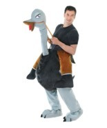 STEP IN OSTRICH UNISEX COSTUME, ADULT COSTUMES, FANCY DRESS - £80.37 GBP