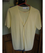 Womens CROFT And BARROWS Twin Set ONE Piece Sweater Top Yellow (M) - $12.95