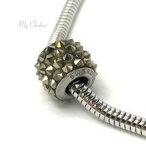 Swarovski European Fit Bracelet Charm Stainless BeCharmed Pave Spikes Crystal image 10