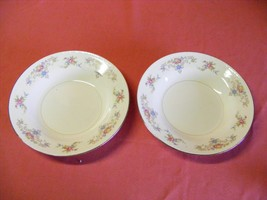 "2 Homer Laughlin Wedgwood 8.25"" Rimmed Soup Bowls Eggshell Georgian USA - $19.95"