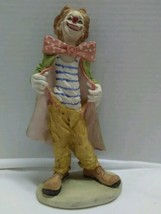 "Vintage Hobo Clown Figurine Signed Pucci 9"" Price Products Ceramic Taiwan  - $29.47"