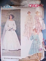 1980s Vintage Sewing Pattern Vogue 1251 Southern Belle Tiered Wedding Dr... - $11.11