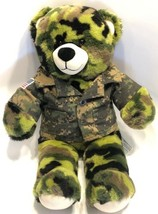 "Build A Bear US Army Military Bear Camouflage Plush 16"" Stuffed Toy Gree... - $24.49"