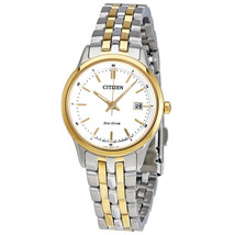 Citizen Eco Drive Ladies Sapphire Two Tone Stainless Steel Watch EW2294-53A - $69.29