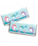 Narwhal Girl - Candy Bar Wrapper Under The Sea Baby Shower or Birthday P... - $23.96