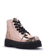 Yru Slayr Oro Rosa Botas de Plataforma Zapatillas Zapatos Brillante Metá... - $124.74