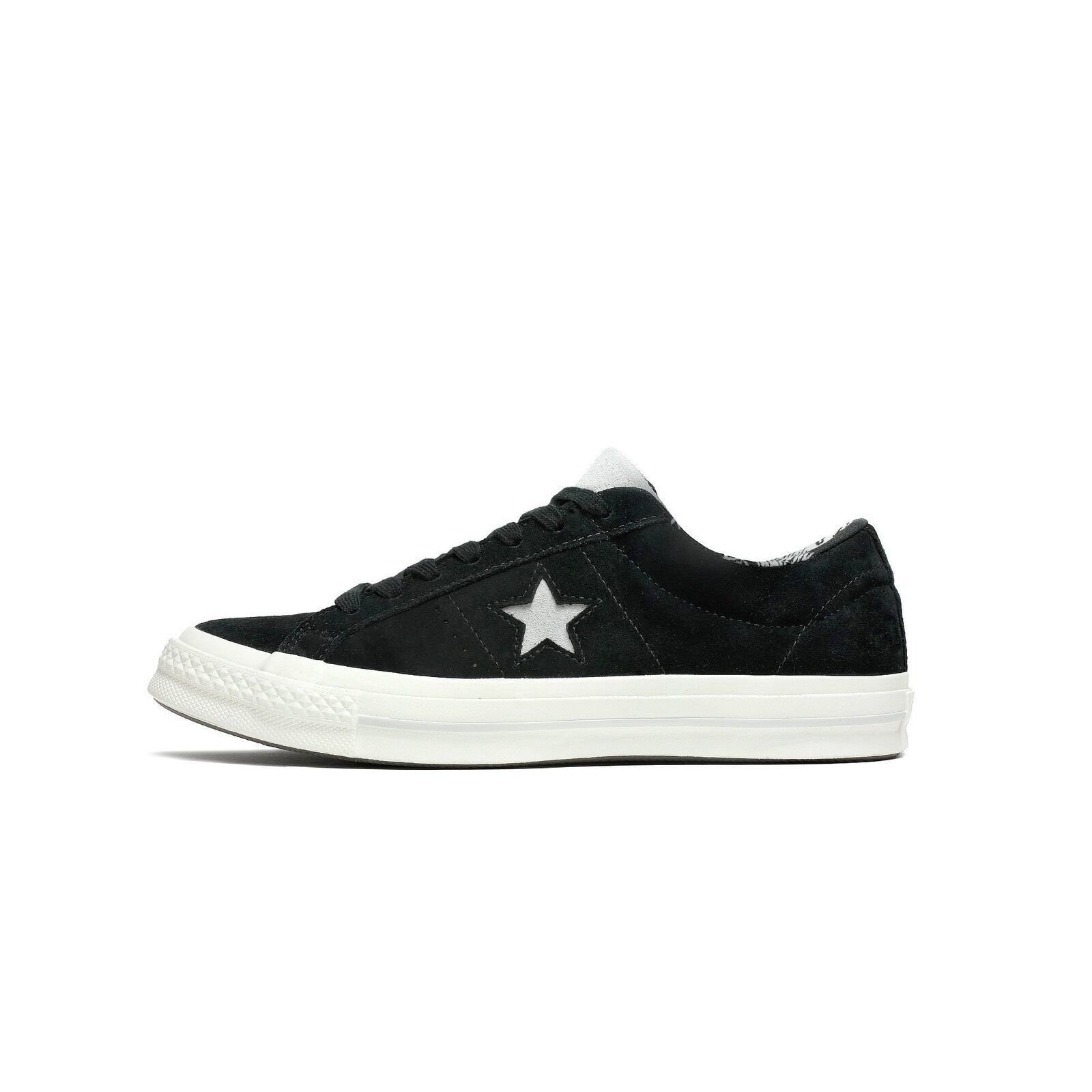 Mens Converse One Star OX Black Mouse Egret 160584C