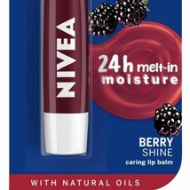 5 Pack NIVEA Lip Balm, Blackberry Shine, Shimmer And Soft Glossy Colour ... - $24.07